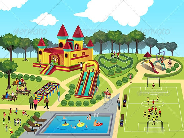 Playground Map - Travel Conceptual