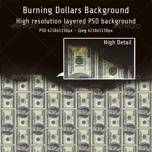 Burning Dollars Background