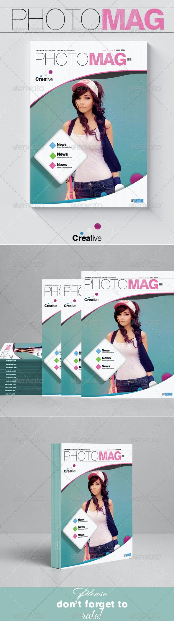 Photo Magazine Cover Template - Magazines Print Templates