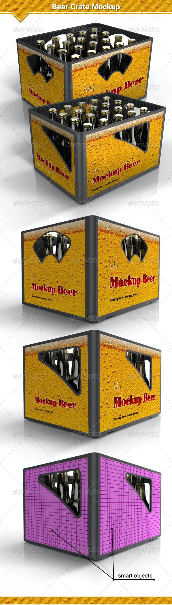Beer Crate Mockup - Food and Drink Packaging