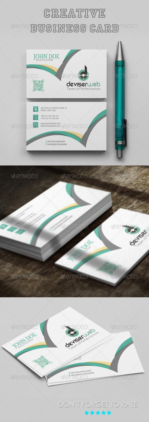 Creative Business Card Template - Business Cards Print Templates