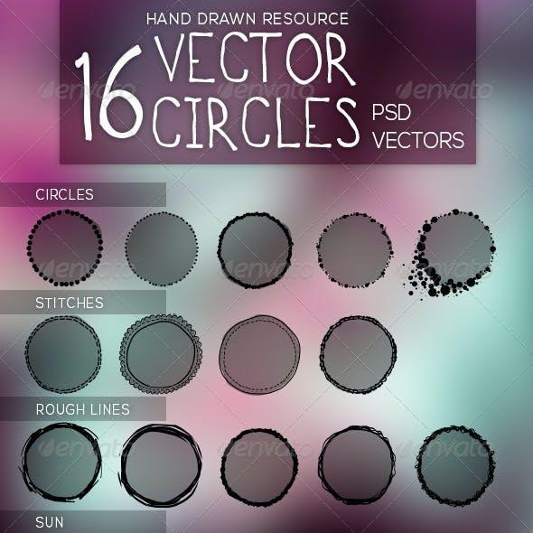Handrawn Vector Circles