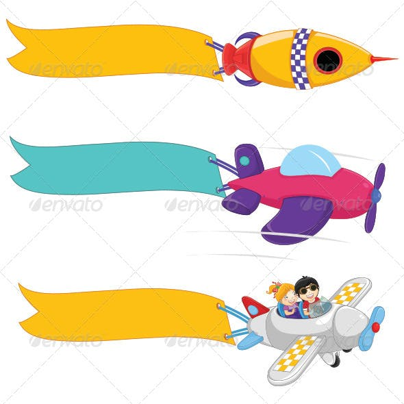 Planes Banner Set