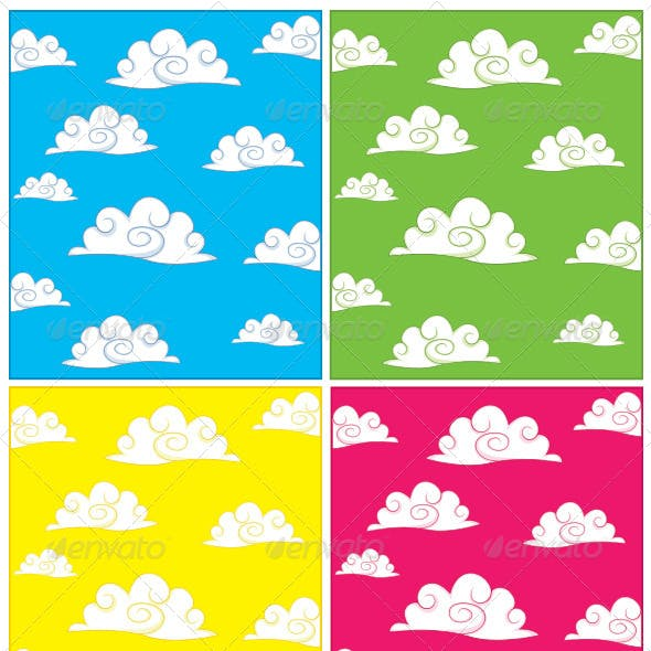 Clouds Background Set