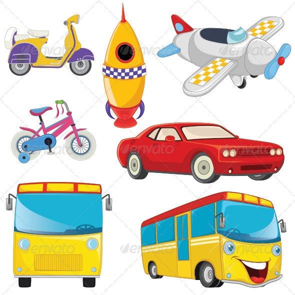 Vehicle Illustrations Set - Travel Conceptual