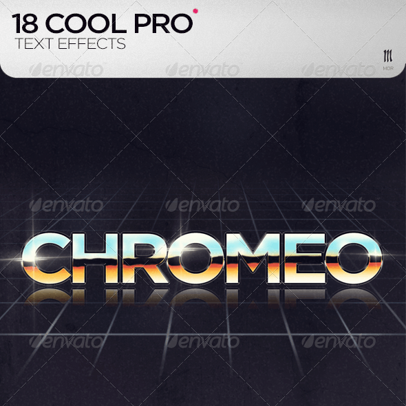 18 Cool PRO Text Effects + .PSD