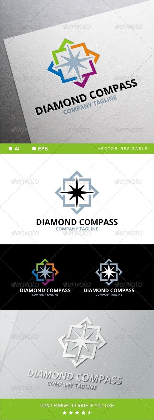 Diamond Compass Logo - Symbols Logo Templates