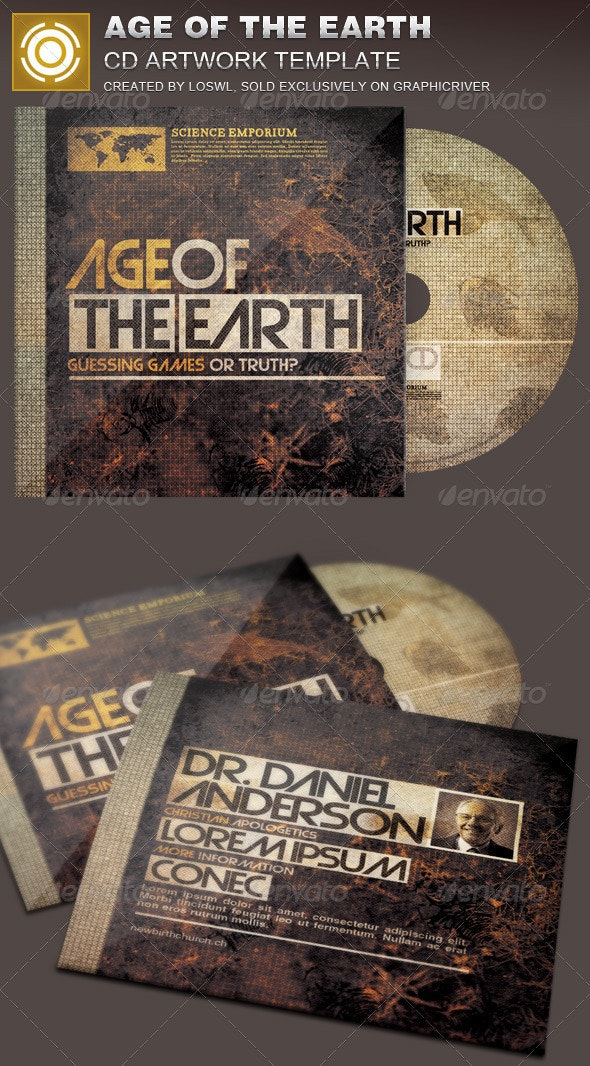 Age of the Earth CD Artwork Template - CD & DVD Artwork Print Templates