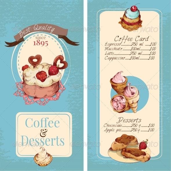 Desserts Menu Template - Food Objects