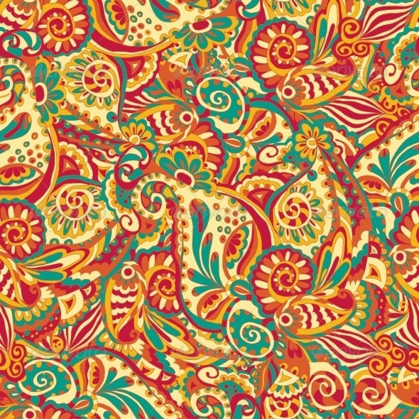 Ornamental Seamless Pattern - Backgrounds Decorative