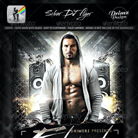 Silver DJ Flyer