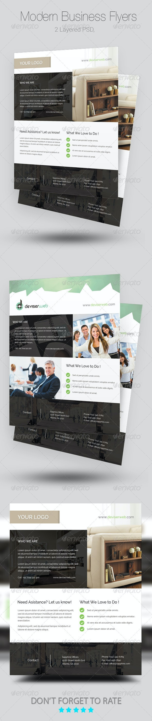 Modern Business Flyer/Poster Templates - Corporate Flyers