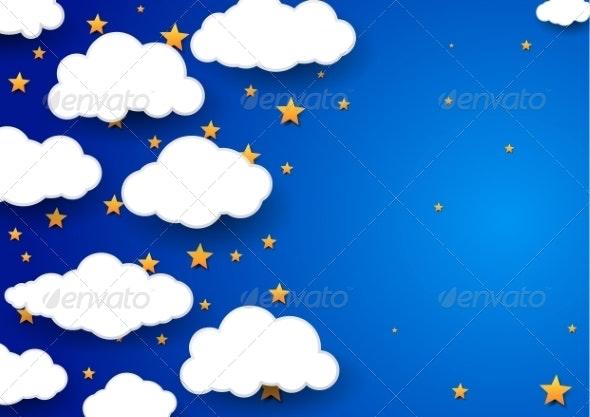 Night Sky Background - Childish Wallpaper - Backgrounds Decorative