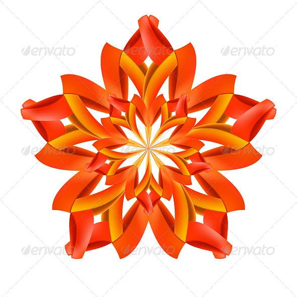 Abstract Red and Orange Pattern