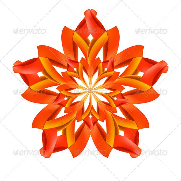 Abstract Red and Orange Pattern - Patterns Decorative