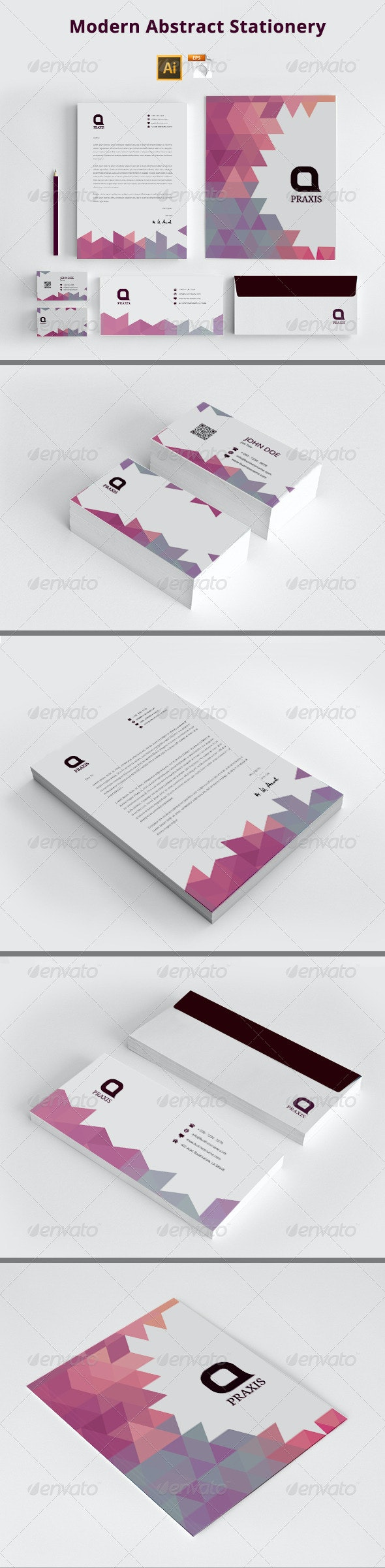 Modern Abstract Stationery - Stationery Print Templates