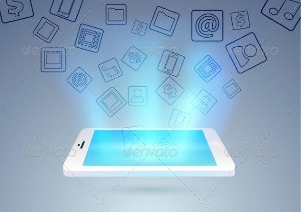 Social Media Through Mobile Phone - Web Technology
