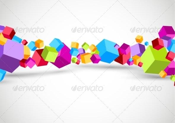 Colorful Cubes 3D Background - Backgrounds Decorative