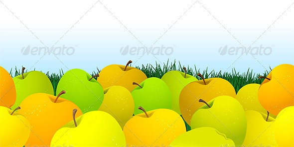 Abstract Pattern with Apples - Patterns Decorative