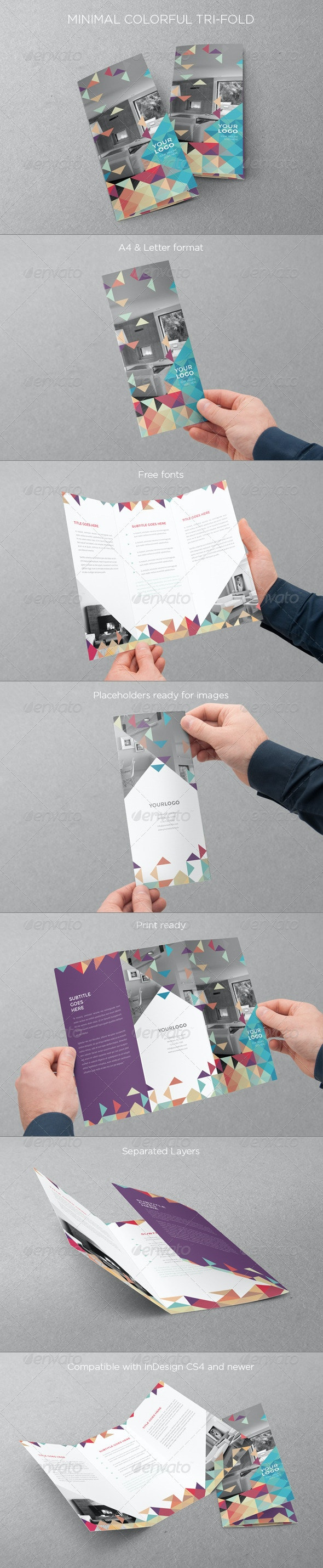 Minimal Colorful Trifold - Brochures Print Templates