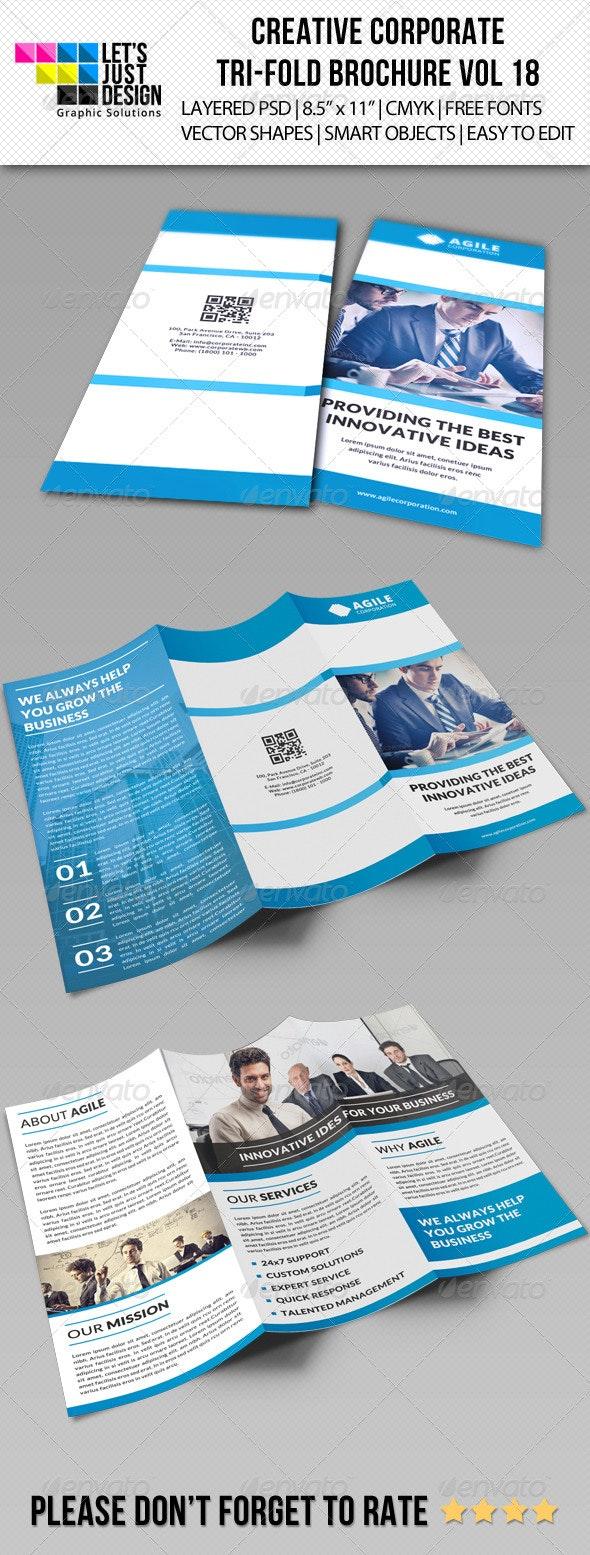 Creative Corporate Tri-Fold Brochure Vol 18 - Corporate Brochures