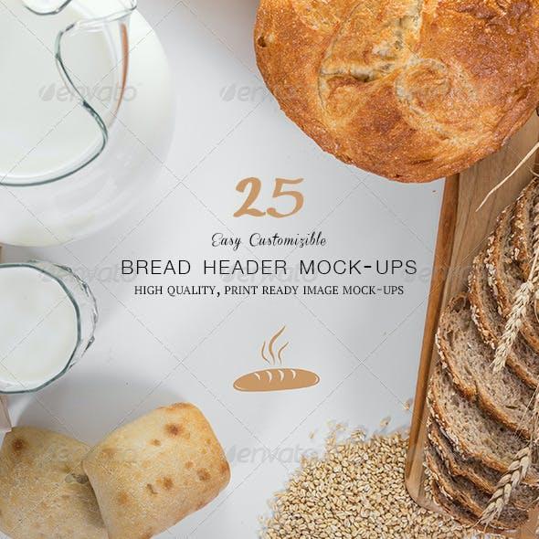Bread Header Mock-ups