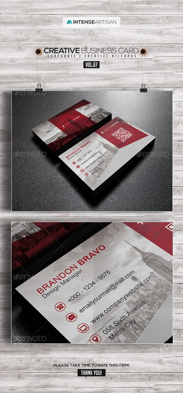 Business Card V.67 - Corporate Business Cards