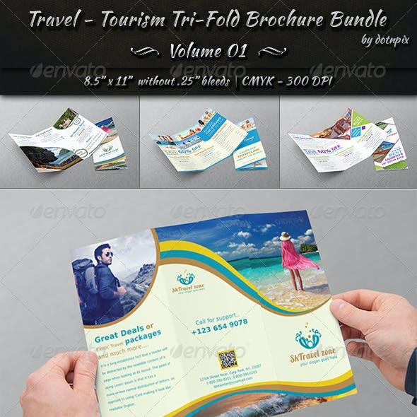 Travel / Tourism Tri-Fold Brochure Bundle   v1