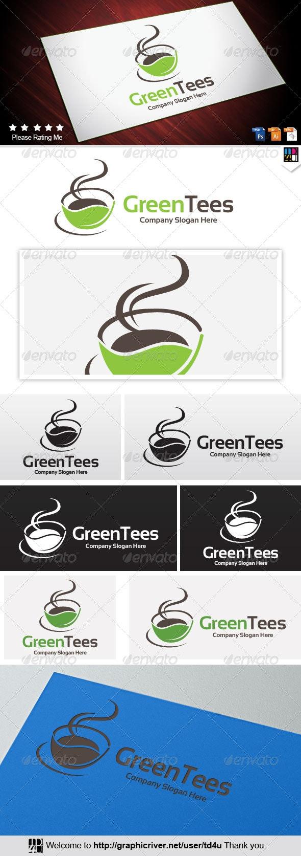 Green tee - Food Logo Templates