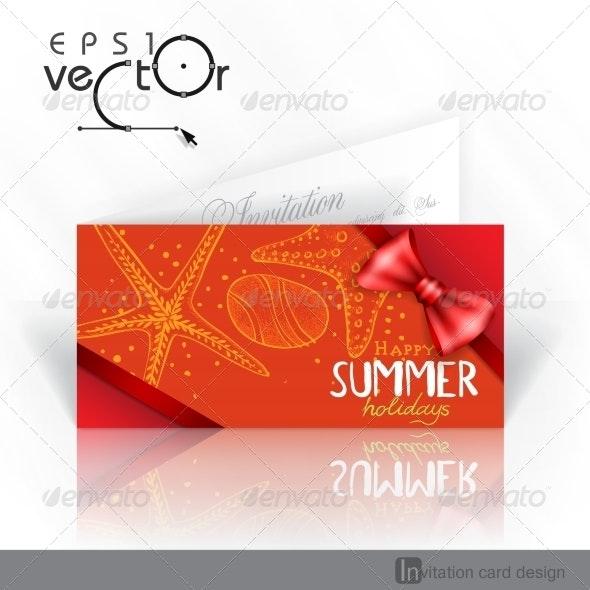 Invitation Card Design, Template - Travel Conceptual