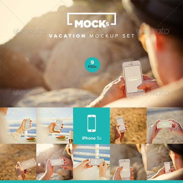 Photorealistic iPhone Mockup Templates