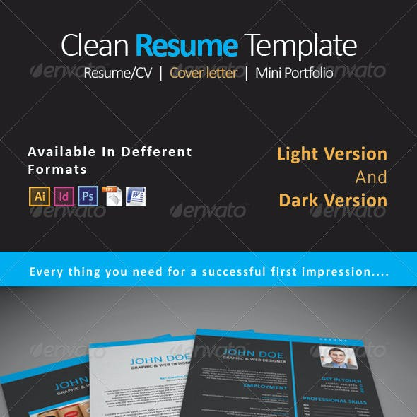 Resume CV Template 3