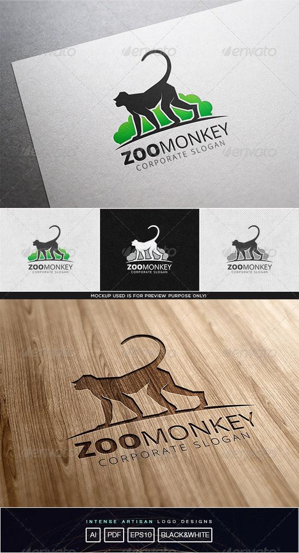 Zoo Monkey Logo Template - Animals Logo Templates
