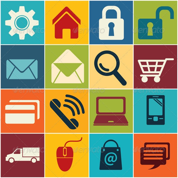 Icon E commerce and Shopping  - Web Elements Vectors