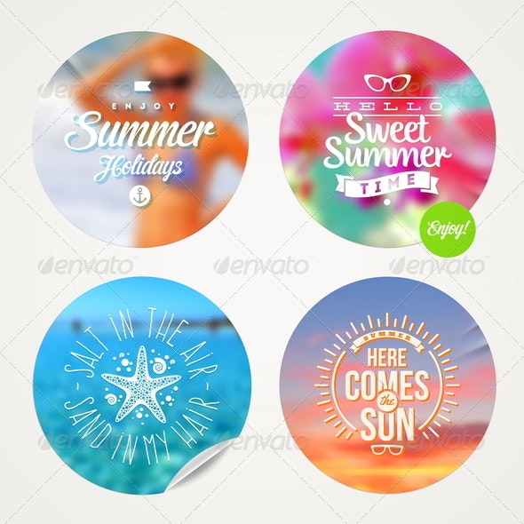 Summer Holidays and Tropical Vacation Set  - Travel Conceptual