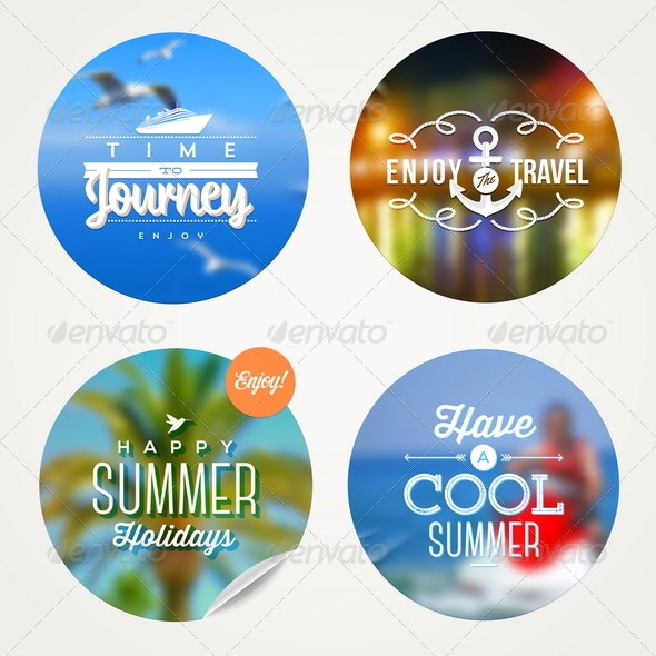 Summer Travel and Vacation Set - Travel Conceptual