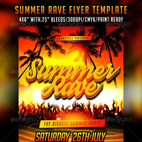 Summer Rave Flyer Template
