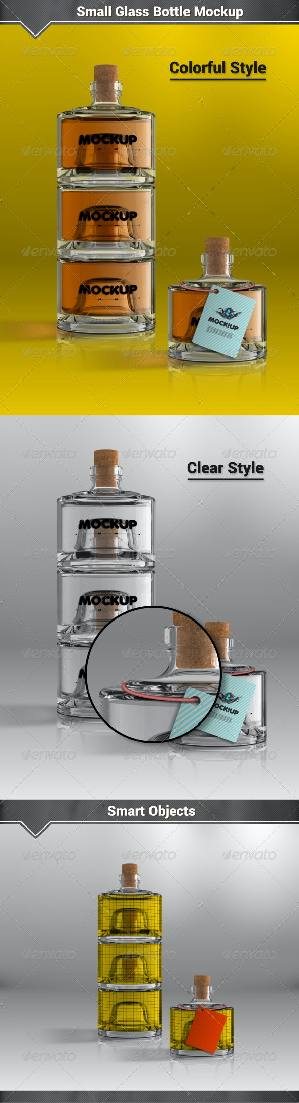 Small Glass Bottles Mockup - Packaging Product Mock-Ups