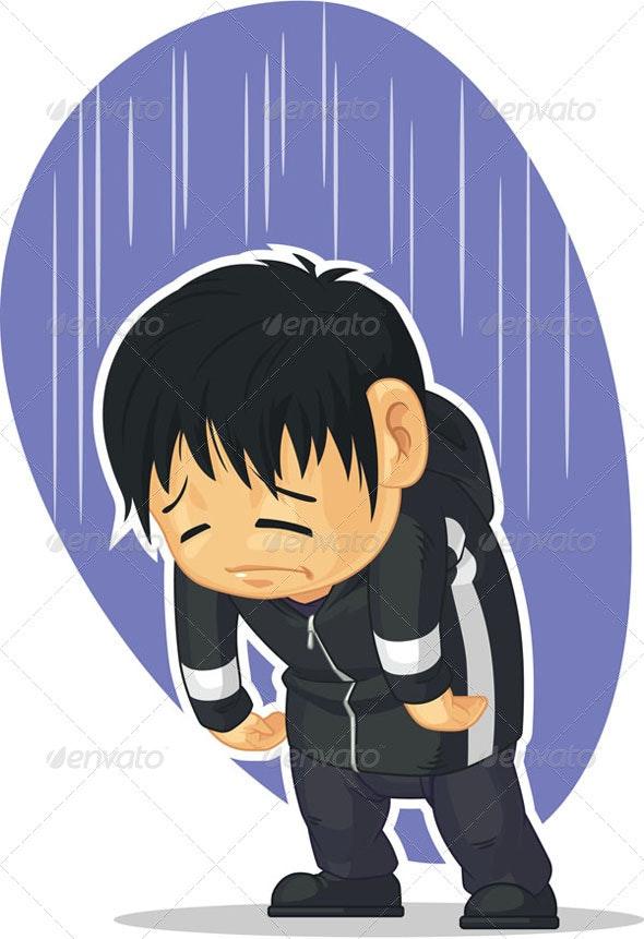 Sad Boy - People Characters
