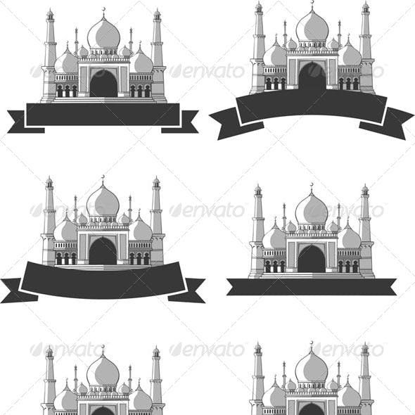 Ramadan & Eid Mubarak Greeting - Masjid Banner