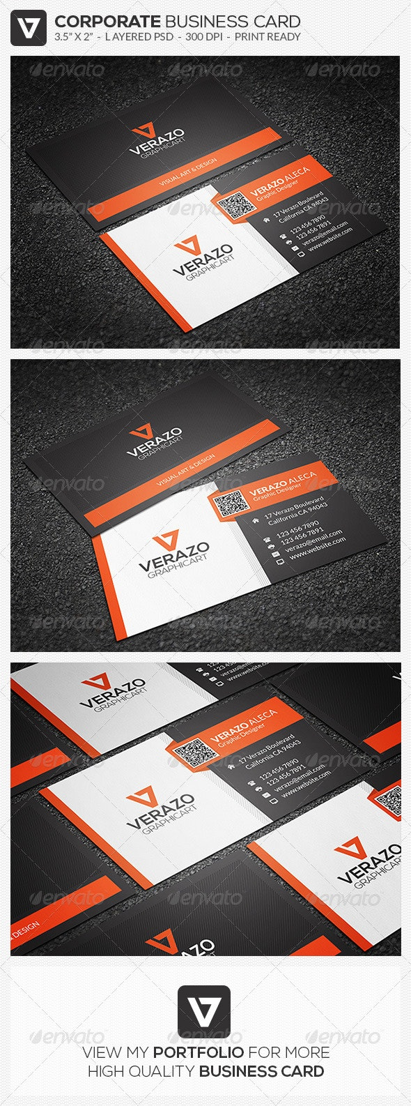Modern Corporate Business Card 44 - Corporate Business Cards