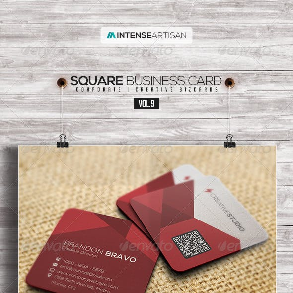 Square Business Card V.9