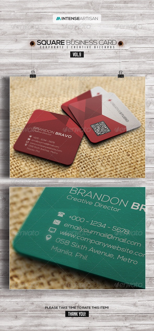 Square Business Card V.9 - Creative Business Cards