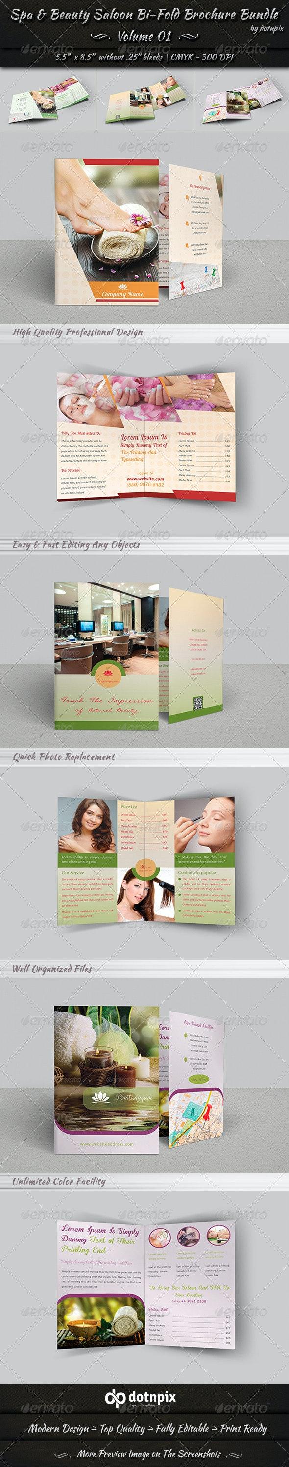 Spa & Beauty Saloon Bi-Fold Brochure Bundle   v1 - Corporate Brochures