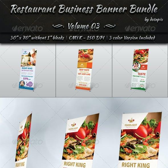 Restaurant Business Banner Bundle | Volume 3