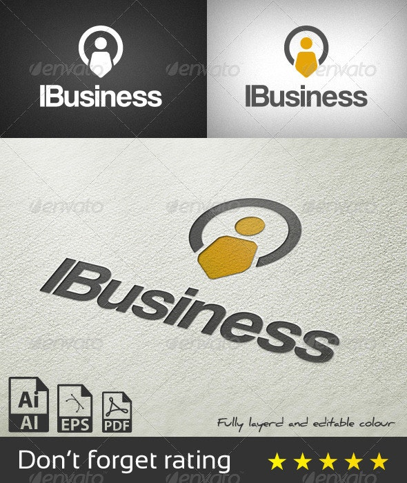 IBusiness Logo Template - Letters Logo Templates