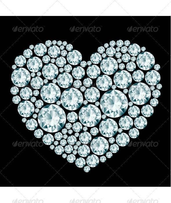 Heart Diamond Composition  - Valentines Seasons/Holidays