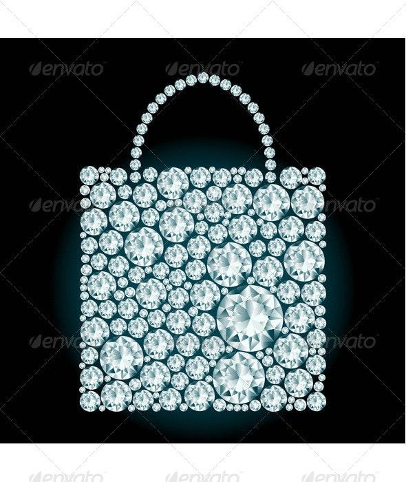 Shopping Bag made of Diamonds. - Commercial / Shopping Conceptual