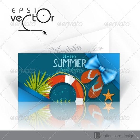 Invitation Card Design, Template - Christmas Seasons/Holidays