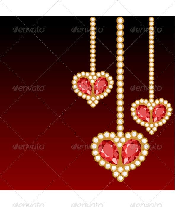 Jewelry Hearts - Valentines Seasons/Holidays